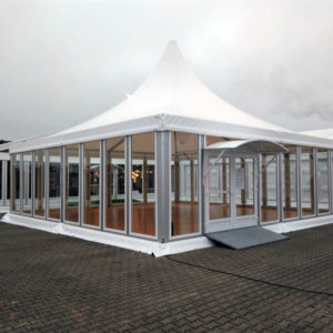 Tent - transparant-wit - € ,-
